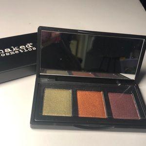 Naked Cosmetics metallic eyeshadow trio